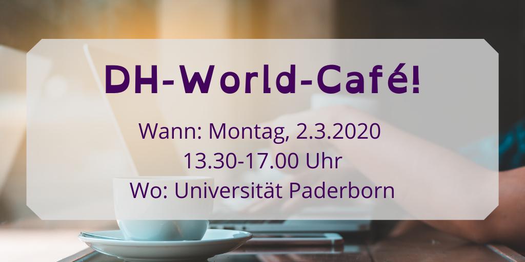 Bei unserem DH-World-Café möchten wir mit dir über Theorie der Digital Humanities diskutieren. #WissKomm #DigitalHumanities #academia