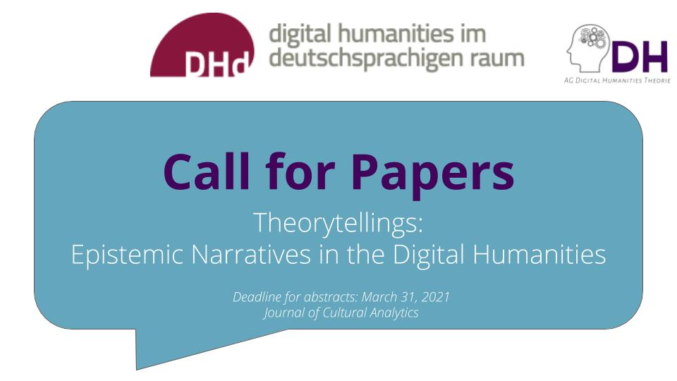 """Call for Papers: """"Theorytellings: Epistemic Narratives in the Digital Humanities"""""""