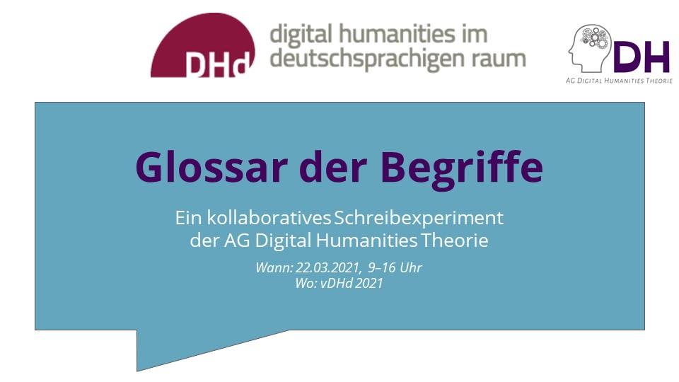 Interdisziplinäre Begriffsarbeit in und für die Digital Humanities – Workshop auf der vDHd2021